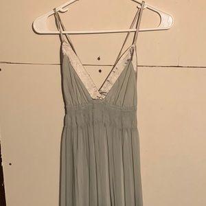 Long flowy sheer dress